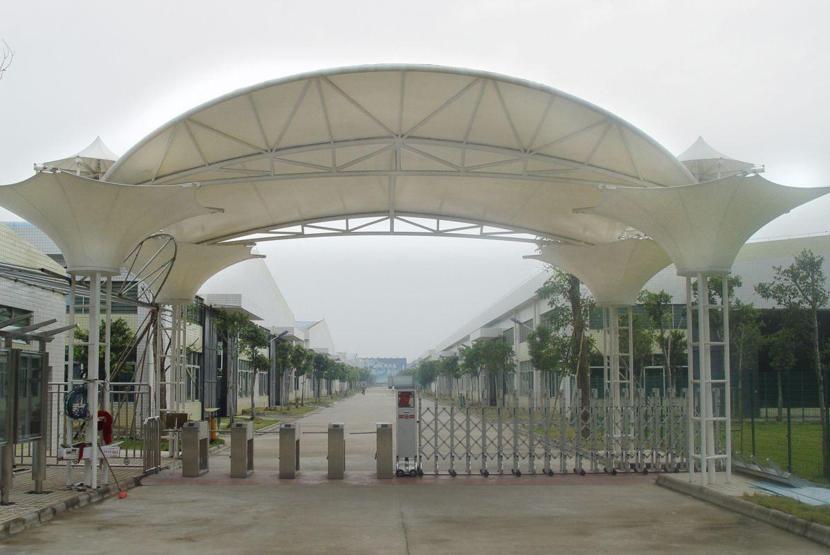 厂区卡口膜结构遮阳