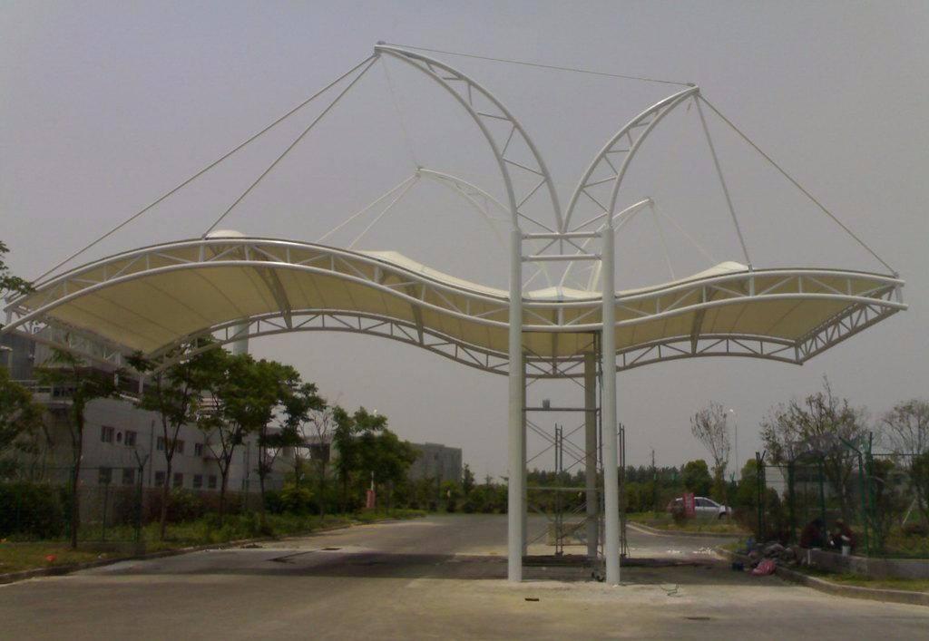 停车棚收费膜结构